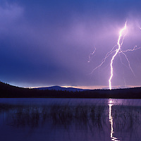 Lightning strike near Roger's Lake, Montana.