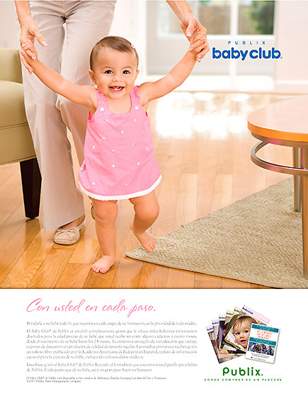 """Publix Baby Club Ad, """"First Steps""""."""