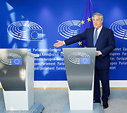 Antonio TAJANI - EP President meets with Sebastiano MUSUMECI - President of Sicily <br /> - Press point
