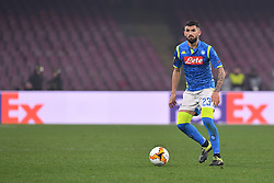 February 21, 2019 - Napoli, Napoli, Italia - Foto Cafaro/LaPresse.21 Febbraio 2019 Napoli, Italia.sport.calcio.SSC Napoli vs FC Zurich - UEFA Europa League stagione 2018/19, Sedicesimi di finale, ritorno - stadio San Paolo..Nella foto: Elseid Hydaj (SSC Napoli)...Photo Cafaro/LaPresse.February 21, 2019 Naples, Italy.sport.soccer.SSC Napoli vs FC Zurich - UEFA Europa League 2018/19 season, Round of 32, Second leg - San Paolo stadium..In the pic: Elseid Hydaj (SSC Napoli) in action. (Credit Image: © Cafaro/Lapresse via ZUMA Press)