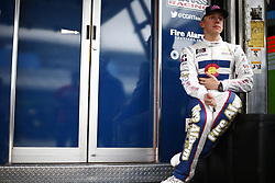 November 16, 2018 - Homestead, Florida, U.S. - John Hunter Nemechek (42) hangs out in the garage during practice for the Ford 300 at Homestead-Miami Speedway in Homestead, Florida. (Credit Image: © Justin R. Noe Asp Inc/ASP)