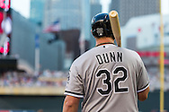 Adam Dunn #32 of the Chicago White Sox waits on-deck during a game against the Minnesota Twins on June 19, 2013 at Target Field in Minneapolis, Minnesota.  The Twins defeated the White Sox 7 to 4.  Photo: Ben Krause