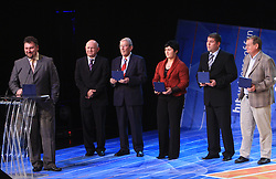 Vladimir Kevo, Janez Kocijancic, Lojze Mikolic, Lucija Polavder, Miha Potocnik and Trevor Millar at  Slovenian sportsman of the year 2008 ceremony, on December 22, 2008, in Cankarjev dom, Ljubljana, Slovenia. (Photo by Vid Ponikvar / SportIda).