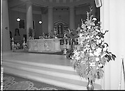 Princess Grace Requiem.1982.23.09.1982..09.23.1982.23rd September 1982.A requiem mass was held at the Pro Cathederal, Marlborough Street, Dublin ,for the repose of the soul of Her Majesty Princess Grace of Monaco..The mass was celebrated by The Papal Nuncio Most Rev.,Dr., Alabrandi. The homily was read by Monsignor John Moloney, P.P.Rathgar, Dublin. Lord Kilannin , Honorary Consol General of Monaco read a lesson at the mass. The Archbishop of Dublin Most Rev., Dr., Ryan and his auxiliary bishops were also taking part. Among the attendees were The Taoiseach, Mr Charles Haughey and his wife Maureen, former Taoisaigh Mr Jack Lynch and Mr Liam Cosgrave..The Diplomatic Corps were also represented..A view of the concelebrated mass.