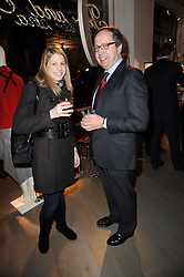Left to right, TANA LAPAGE and ALEXANDER VAN STRAUBENZEE at reception to raise funds for a Ugandan School Project supported by the Henry van Straubenzee Memorial Fund held at Few & Far, 242 Brompton Road, London SW3 on 11th February 2010.