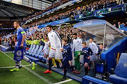 Chelsea Defender John Terry (ENG) leads the sides out before kick off - Photo mandatory by-line: Rogan Thomson/JMP - 07966 386802 - 08/04/2014 - SPORT - FOOTBALL - Stamford Bridge, London - Chelsea v Paris Saint-Germain - UEFA Champions League Quarter-Final Second Leg.