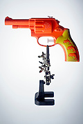 plastic toy water pistol