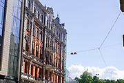 Facade of building in Riga, Latvia