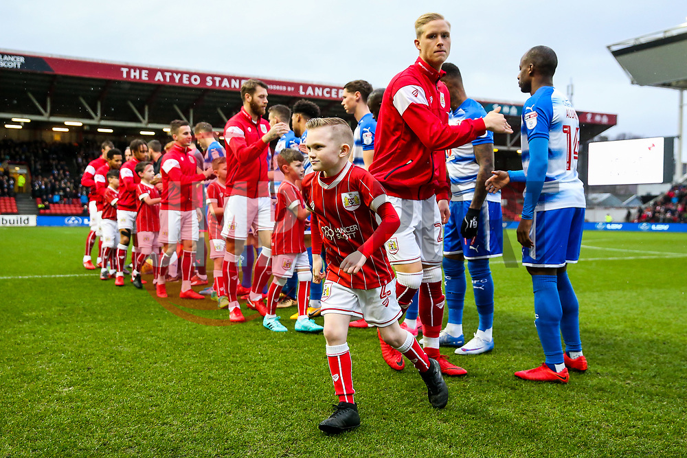 Mascot with Hordur Magnusson of Bristol City - Rogan/JMP - 26/12/2017 - Ashton Gate Stadium - Bristol, England - Bristol City v Reading - Sky Bet Championship.