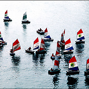 Sail boats in the harbor at Le Harve, France.  .