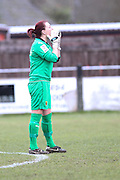 Cherie Rowlands during the Women's FA Cup match between Watford Ladies FC and Brighton Ladies at the Broadwater Stadium, Berkhampstead, United Kingdom on 1 February 2015. Photo by Stuart Butcher.