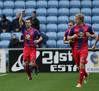 Photo: Lee Earle.<br /> Coventry City v Crystal Palace. Coca Cola Championship. 13/01/2007. Palace's Carl Fletcher (L) celebrates after scoring their first goal.