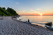 People watching the Sunset, Long Island Sound, 67 Step Beach, Greenport, NY