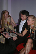 Elizabeth Countess of Bavaria, Daniel Terberger and Vanessa Wittgenstein. Andy & Patti Wong's Chinese New Year party to celebrate the year of the Rooster held at the Great Eastern Hotel, Liverpool Street, London.29th January 2005. The theme was a night of hedonism in 1920's Shanghai. . ONE TIME USE ONLY - DO NOT ARCHIVE  © Copyright Photograph by Dafydd Jones 66 Stockwell Park Rd. London SW9 0DA Tel 020 7733 0108 www.dafjones.com