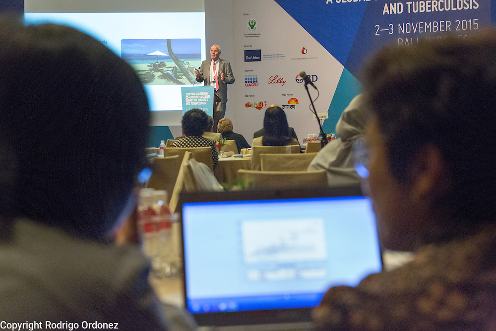 The Managing Director of the World Diabetes Foundation, Dr Anders Dejgaard, speaks at the opening of the global summit on diabetes and tuberculosis in Bali, Indonesia, on November 2, 2015.<br /> The increasing interaction of TB and diabetes is projected to become a major public health issue.&nbsp;The summit gathered a hundred public health officials, leading researchers, civil society representatives and business and technology leaders, who committed to take action to stop this double threat. (Photo: Rodrigo Ordonez for The Union)