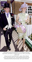 MISS ZARA PHILLIPS daughter of Princess Anne and RICHARD JOHNSON, at Royal Ascot on 19th June 2001. 	OPN 155