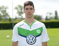 German Soccer Bundesliga 2015/16 - Photocall of VfL Wolfsburg on 16 July 2015 at the Volkswagen-Arena in Wolfsburg, Germany: Felipe Lopes