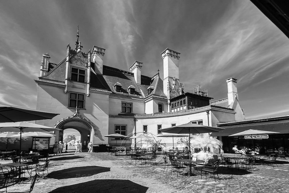 Infrared photo of Biltmore Hotel, Asheville, North Carolina