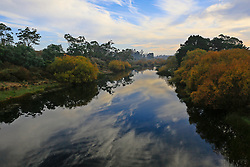 Early morning mist on the Macquarie River, south of Cressy, in Tasmania's northern midlands.