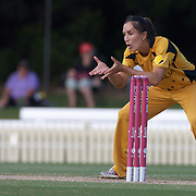 Sarah Andrews fielding during the ICC Women's World Cup Cricket play off for third place between Australia and India at Bankstown Oval, Sydney, Australia on March 21, 2009. India beat Australia by three wickets. Photo Tim Clayton