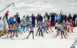 Start during Single Mixed Relay at day 1 of IBU Biathlon World Cup 2018/19 Pokljuka, on December 2, 2018 in Rudno polje, Pokljuka, Pokljuka, Slovenia. Photo by Ziga Zupan / Sportida