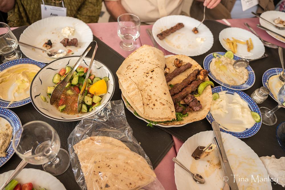 Dinner at local restaurant in Kamishli, Syria.