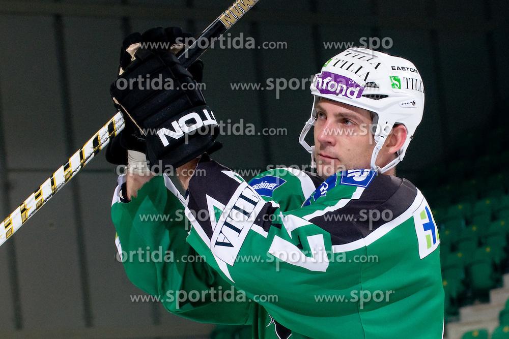 Jeff Torry (HDD Tilia Olimpija, #47) during ice-hockey match between HDD Tilia Olimpija and EC KAC in 32nd Round of EBEL league, on December 30, 2010 at Hala Tivoli, Ljubljana, Slovenia. (Photo By Matic Klansek Velej / Sportida.com)
