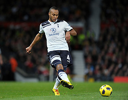 Younes Kaboul during the Barclays Premier League match between Manchester United and Tottenham Hotspur at Old Trafford on October 30, 2010 in Manchester, England.