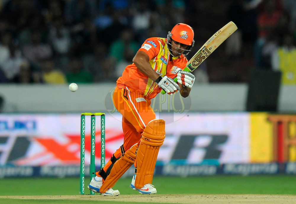 Nasir Jamshed of Lahore Lions bats during match 7 of the Oppo Champions League Twenty20 between the Kolkata Knight Riders and the Lahore Lions held at the Rajiv Gandhi Cricket Stadium, Hyderabad, India on the 21st September 2014<br /> <br /> Photo by:  Pal Pillai / Sportzpics/ CLT20<br /> <br /> <br /> Image use is subject to the terms and conditions as laid out by the BCCI/ CLT20.  The terms and conditions can be downloaded here:<br /> <br /> http://sportzpics.photoshelter.com/gallery/CLT20-Image-Terms-and-Conditions-2014/G0000IfNJn535VPU/C0000QhhKadWcjYs