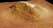 This image is of an eroded mesa made famous by its similarity to a human face. Mars Reconnaissance Orbiter spacecraft.