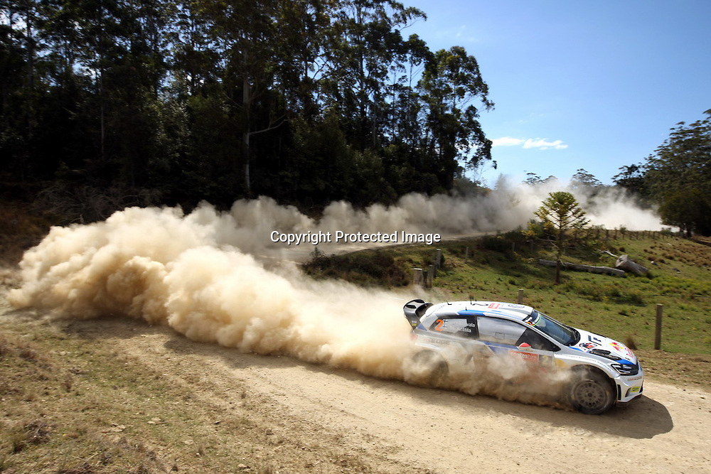 during Special Stage 10, Rally Australia - Round 10 of the FIA World Rally Championship, Day 3, 14 September 2014. Photo: Alan McDonald/www.photosport.co.nz