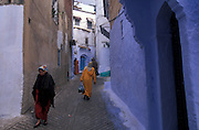 Chouen in the Rif mountains is characterised by its painted winding streets
