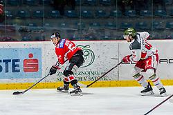 13.01.2019, Ice Rink, Znojmo, CZE, EBEL, HC Orli Znojmo vs HCB Suedtirol Alperia, 38. Runde, im Bild v.l. Radim Matus (HC Orli Znojmo) Andrew Crescenzi (HCB Sudtirol Alperia) // during the Erste Bank Eishockey League 38th round match between HC Orli Znojmo and HCB Suedtirol Alperia at the Ice Rink in Znojmo, Czechia on 2019/01/13. EXPA Pictures © 2019, PhotoCredit: EXPA/ Rostislav Pfeffer