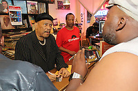 Legendary rhythm and blues musician, Roy Ayers stopped in to sign autographs at Hyde Park Records before his performance at The Promontory. Hyde Park Records is located at 1377 E. 53rd Street.