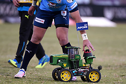 A tractor delivers the tee during the Absa Currie Cup match between the Blue Bulls and DHL Western Province held at Loftus Versfeld stadium, Pretoria, South Africa on the 5th August 2016Photo by:   Real Time Images