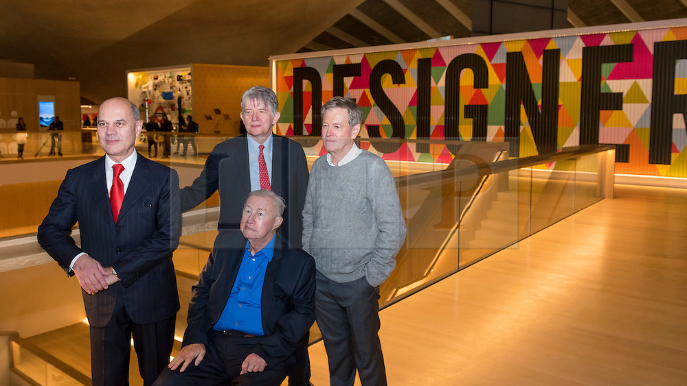© Licensed to London News Pictures. 17/11/2016. London, UK. Founder, Sir Terence Conran,  seated and John Pawson, designer, right, as The Design Museum opens in its new home on Kensington High Street, west London.  Housed in the former Commonwealth Institute, the building has been redesigned by John Pawson following an investment of £83m, and a five-year construction process for its future role as the world's leading institution dedicated to contemporary design and architecture. Photo credit : Stephen Chung/LNP