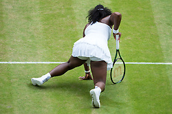 LONDON, ENGLAND - Saturday, July 9, 2016:  Serena Williams (USA) during the Ladies' Singles - Final match on day thirteen of the Wimbledon Lawn Tennis Championships at the All England Lawn Tennis and Croquet Club. (Pic by Kirsten Holst/Propaganda)