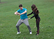 EXCLUSIVE<br /> <br /> BB star Steven Goode put through his passes by fiance and former BB contestant Kimberly Kisselovich<br /> <br /> BB Star Steven Goode its put through his paces by fiance and former BB contestant Kimberly Kisselovich to lose weight he has gained to prepare for there engagement party this weekend and forthcoming wedding ,Following  the Daily Star story on how steven had been eating 10,000 calories a day, has forced steven into making some dratic changes which include using his fiance Kimberly to get him in to shape,<br /> ©Exclusivepix