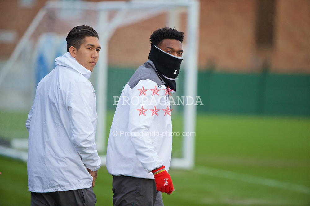 LIVERPOOL, ENGLAND - Wednesday, March 9, 2016: Liverpool's Daniel Sturridge during a training session at Melwood Training Ground ahead of the UEFA Europa League Round of 16 1st Leg match against Manchester United FC. (Pic by David Rawcliffe/Propaganda)