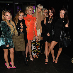 Nadia Essex, Hannah Elizabeth, Bianca Gascoigne, Jess Impiazzi and Jessica Hayes attend Jasmin Walia's clothing launch party at the W Hotel in London, UK. 10/11/2015<br />BYLINE MUST READ : GOTCHAIMAGES.COM<br /><br />Copyright by © Gotcha Images Ltd. All rights reserved.<br />Usage of this image is conditional upon the acceptance <br />of Gotcha Images Ltd, terms and conditions available at<br />www.gotchaimages.com