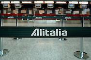 """Rome, Italy 30/04/2004: Strike Alitalia workers,  Fiumicino Airport """"Leonardo da Vinci""""..©Andrea Sabbadini"""