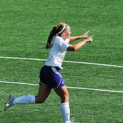 Photos by Tom Kelly IV<br /> WCU's Lexi Brown (27) celebrates her goal during the Indiana University of Pennsylvania (IUP) vs West Chester University (WCU) women's soccer game in East Bradford Township, Wednesday afternoon October 2, 2013.