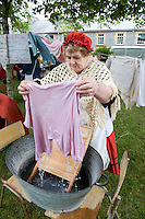 Nancy Kealey from Kilcolgan washing her knickers  at the Market day in Clarinbridge  marking the start of the weeklong Oyster festival celebrations with the highlight next weekend  Photo:Andrew Downes