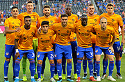 FC Cincinnati players pose prior to the start of the MLS soccer game between FC Cincinnati and Atlanta United FC, Wednesday, September 18, 2019, in Cincinnati, OH. Atlanta defeated Cincinnati 2-0. (Jason Whitman/Image of Sport)