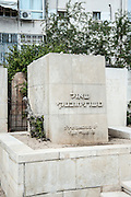 Shaul Tchernichovsky grave in the old cemetery in Trumpeldor street, Tel Aviv, Israel