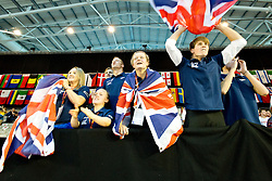 Team GB going nuts during the relay GBR at 2015 IPC Swimming World Championships -