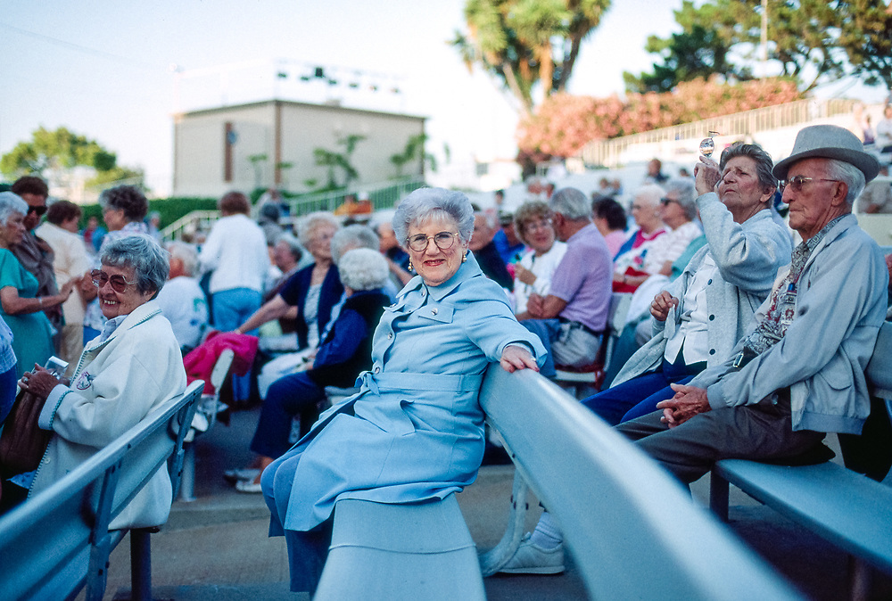 Grandma Pauline at ampitheater in Leisure World when Tony Martin performed.