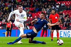 Wayne Rooney of England shoots at goal - Mandatory by-line: Robbie Stephenson/JMP - 15/11/2018 - FOOTBALL - Wembley Stadium - London, England - England v United States of America - International Friendly