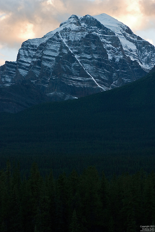 Mount Temple at sunset in Banff National Park.2048x3072 (original size)
