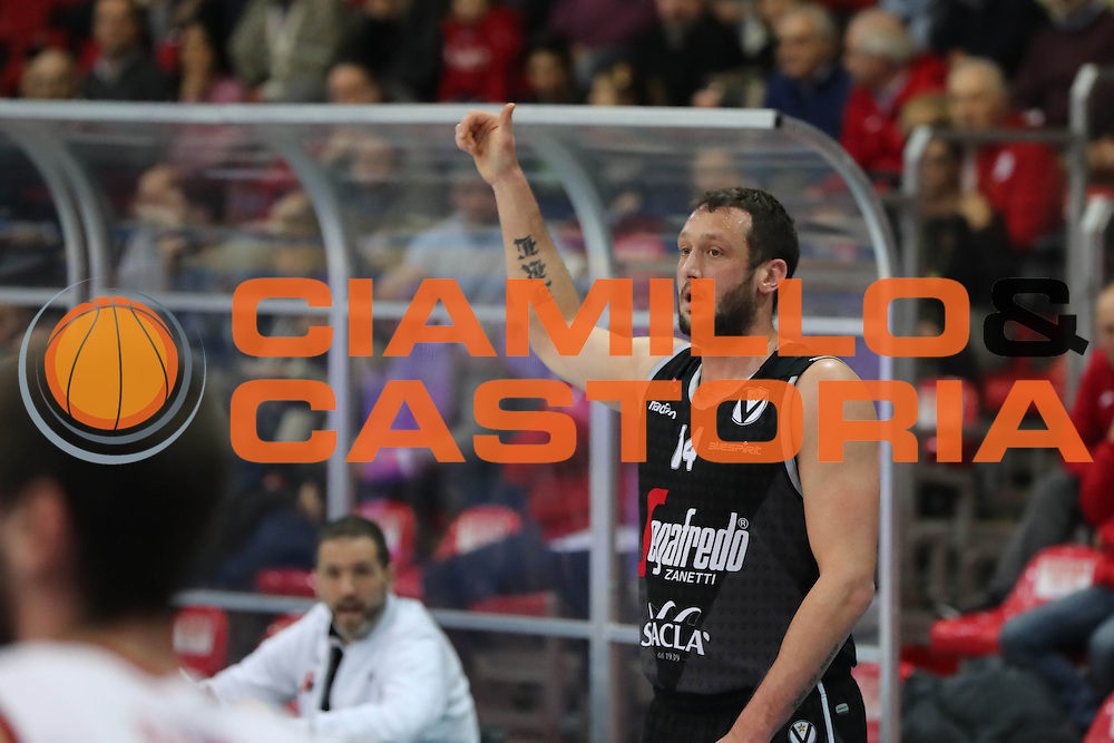 Guido Rosselli<br /> Assigeco Piacenza - Segafredo Bologna<br /> Campionato Basket LNP 2016/2017<br /> Piacenza 09/01/2017<br /> Foto Ciamillo-Castoria